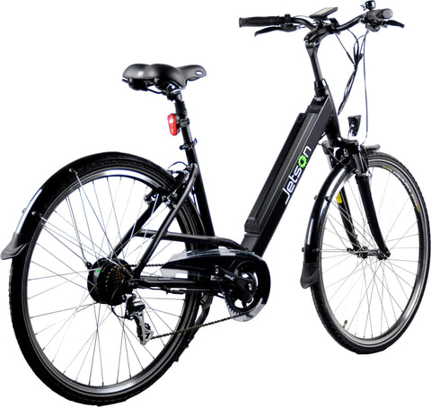 image of Jetson Rose Electric Bike side profile view facing right color black