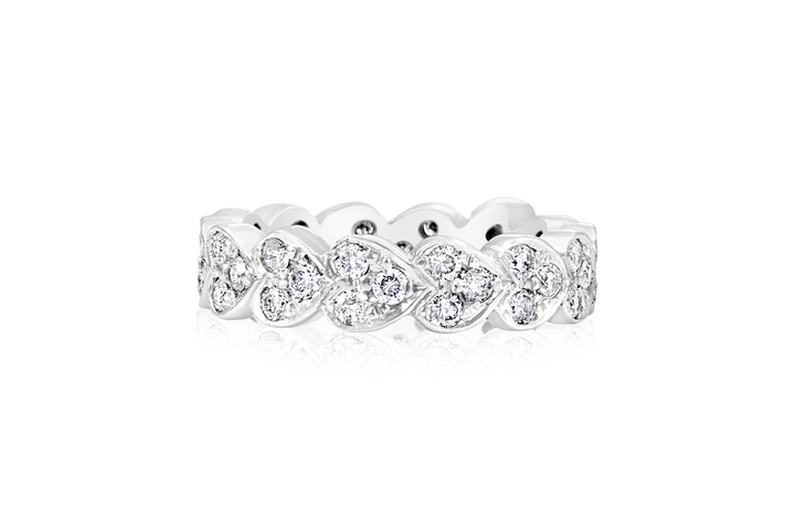 "Diamond ""Heart"" Eternity Band Ring"