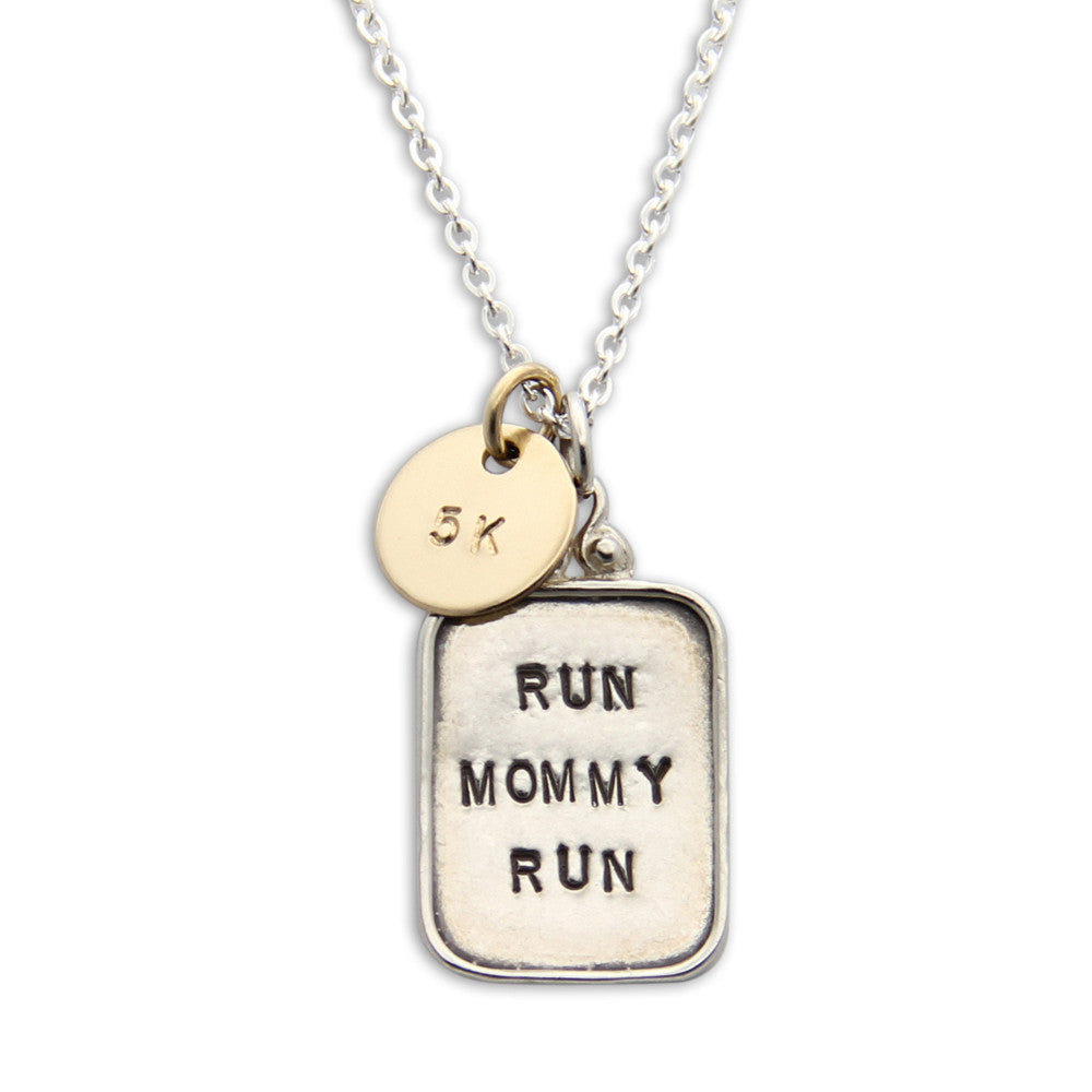 Fitness Jewelry, Hand Stamped Runners Necklace, Mini Medal™, jenny present®