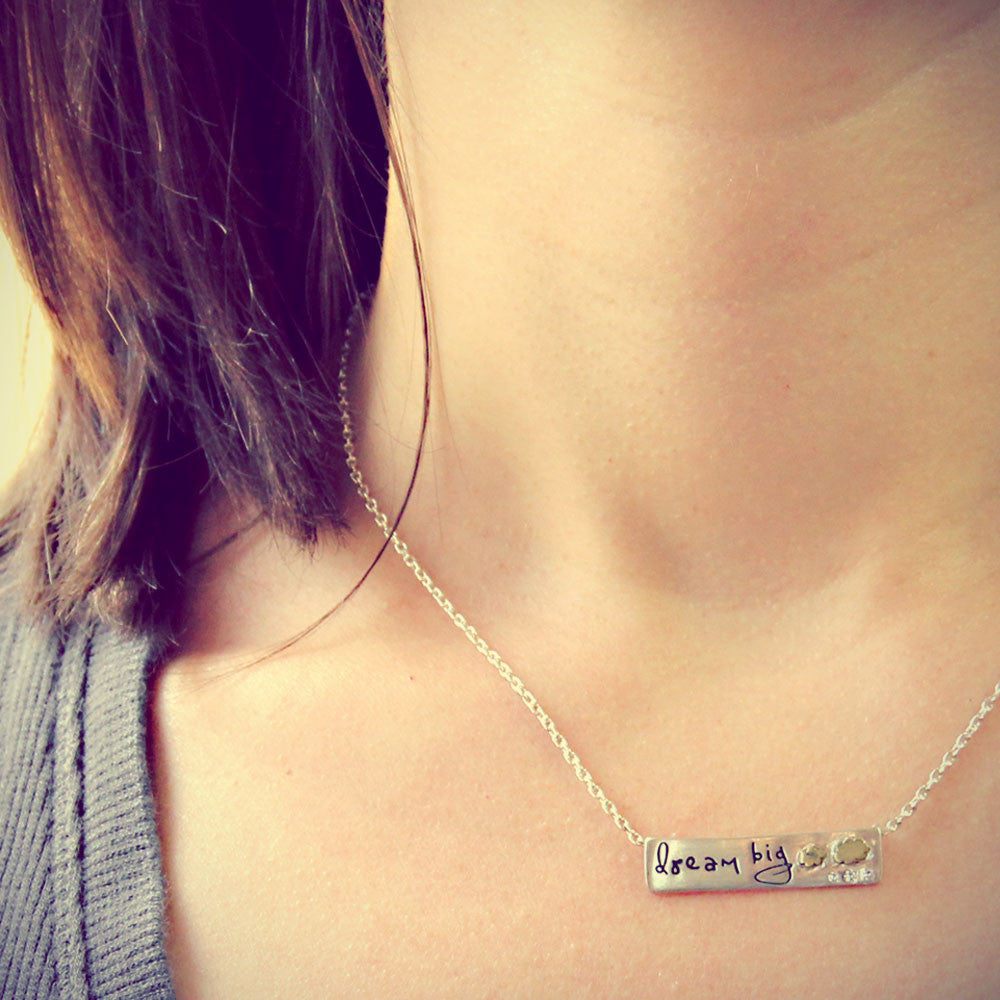 Dream Big Inspirational Necklace, LifeNotes® Message Jewelry