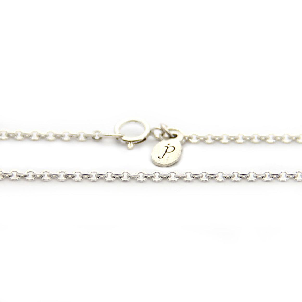 sterling silver cable chain length options, add on chain, personalized jewelry, jenny present®