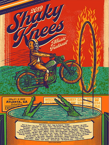 2019 Shaky Knees Official Commemorative Poster