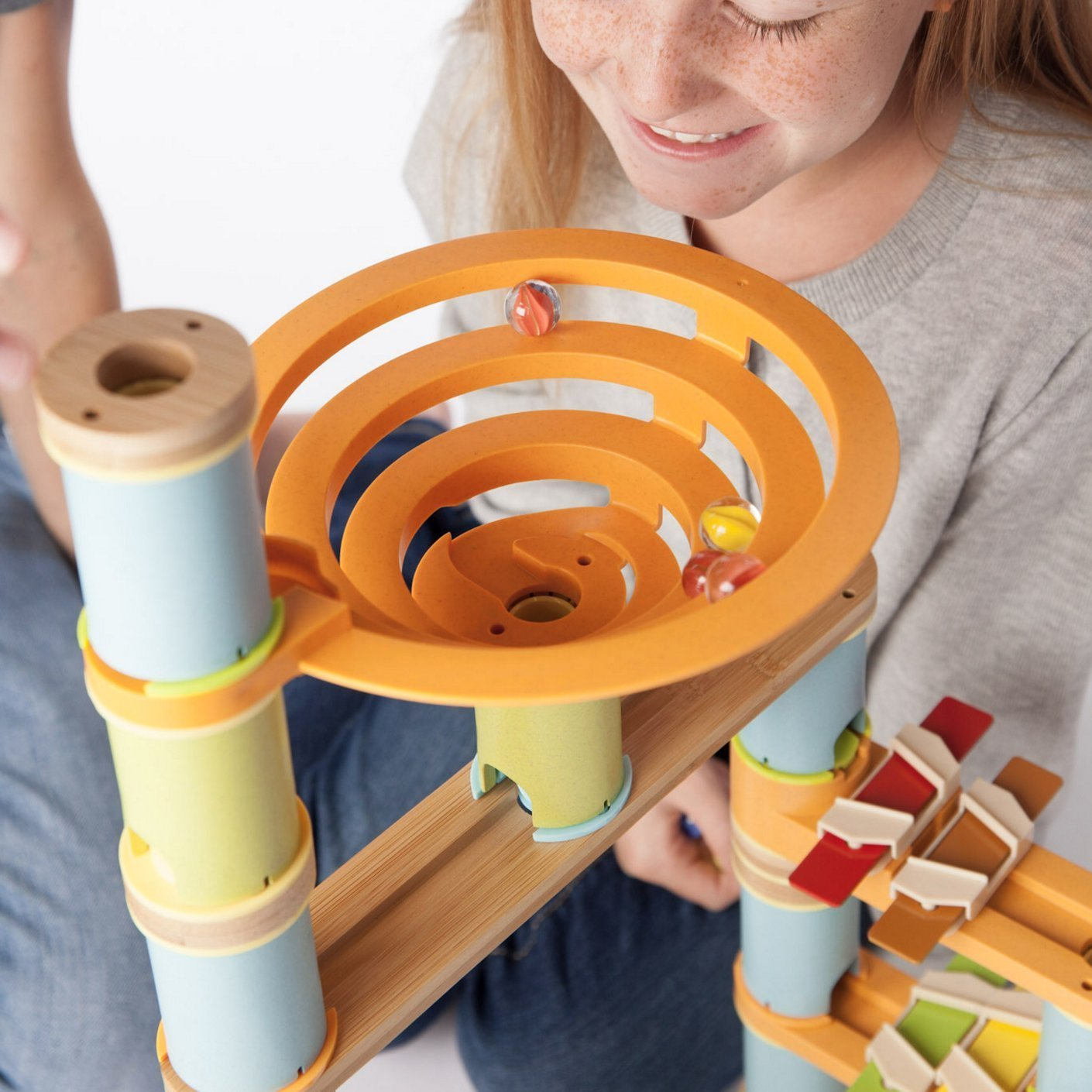 Bamboo Builder Musical Marble Run 127 piece set