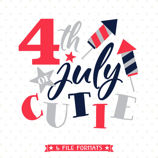 4th of July cutie SVG file designed by Queen SVG Bee