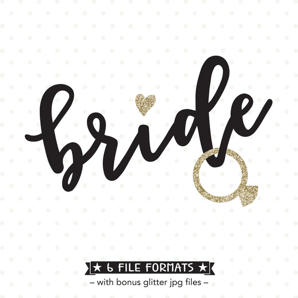 vinyl shirt design for Bride