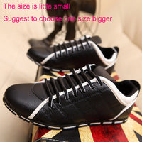 New 2017 High Quality Men PU Leather Flats Lace Up Fashion Casual Leisure Men's Flat Shoes Loafers Soft Light Male Footwear - Goodies Online Store