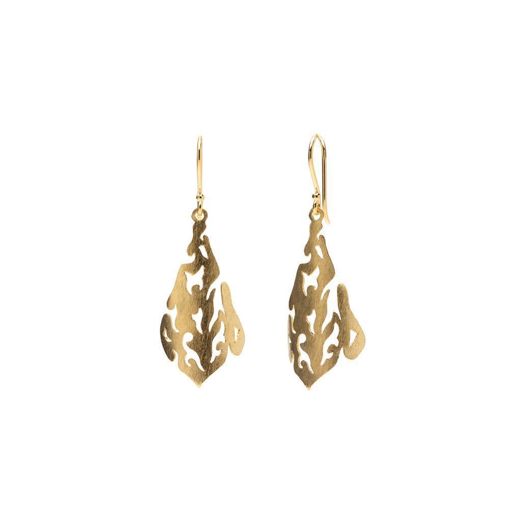 SAL GOLD FILIGREE DROP EARRINGS-Earrings-MEZI