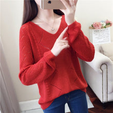 Loose Fit Pullover-Cardigans-[korean fashion]-[korean clothing]-[korean style]-SOO・JIN