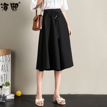 Mid Length Pant Skirt-Bottoms-[korean fashion]-[korean clothing]-[korean style]-SOO・JIN