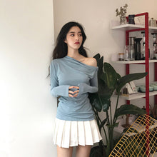 Drape-Side Casual Top-Blouses & Shirts-[korean fashion]-[korean clothing]-[korean style]-SOO・JIN