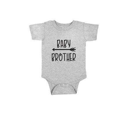 Baby Brother Infant Tee Baby Bodysuit Custom Infant T-shirt Personalized Baby Fine Jersey Shirt Baby Funny Infant