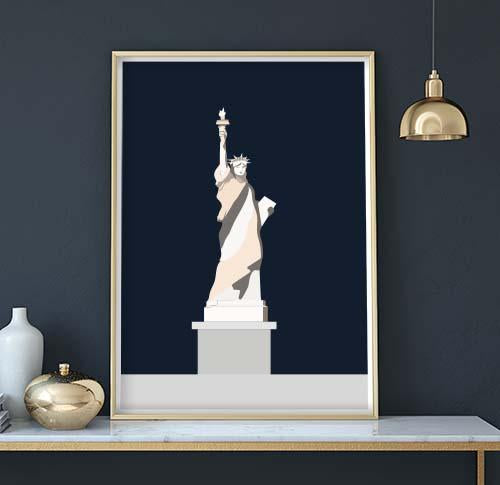 Statue of liberty art print by Sina Santihoff. Follow Sina Santihoff on Instagram.