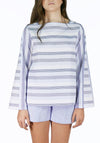 Miss L. Ray Top Ember blue stripes children and teen fashion
