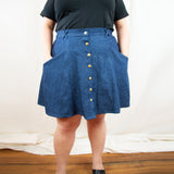 Janis Mini Skirt in Denim