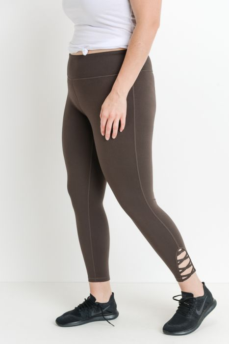 JP Signature Criss-Cross Leggings - Brown