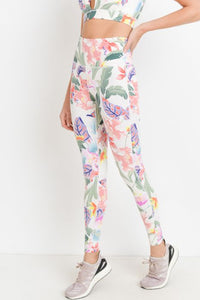 High Waist Tropical Leggings