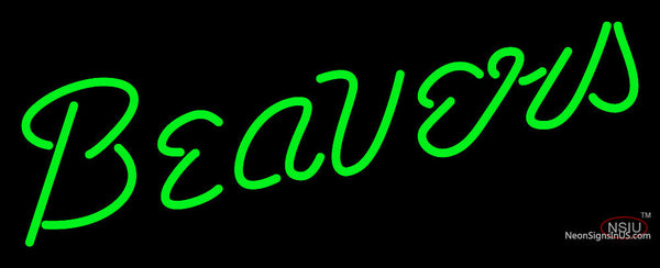 Bemidji State Beavers Wordmark  Pres Logo NCAA Neon Sign