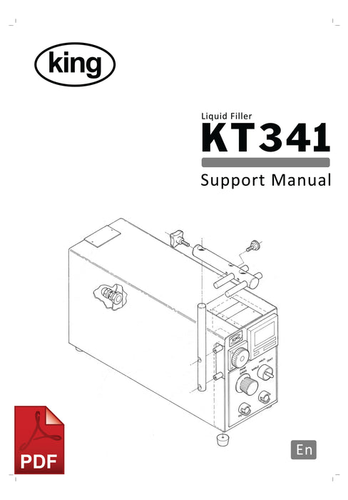 King KT341 Liquid Filling Machine User Instructions and Servicing Manual