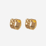 Croc-Embossed Huggie Hoop Earrings - Etienne Aigner