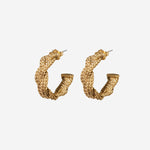 Braided Chain Hoop Earrings - Etienne Aigner