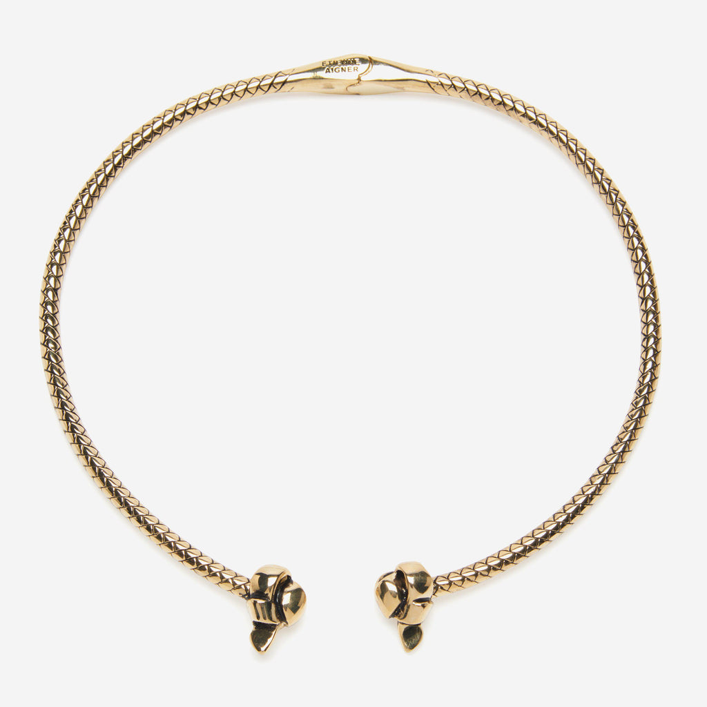 KNOTTED HINGE COLLAR NECKLACE - Etienne Aigner