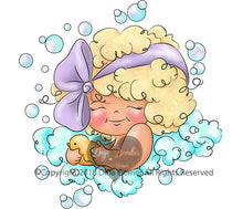 Bath Time Bubbles Digi Doodles Digi Stamp