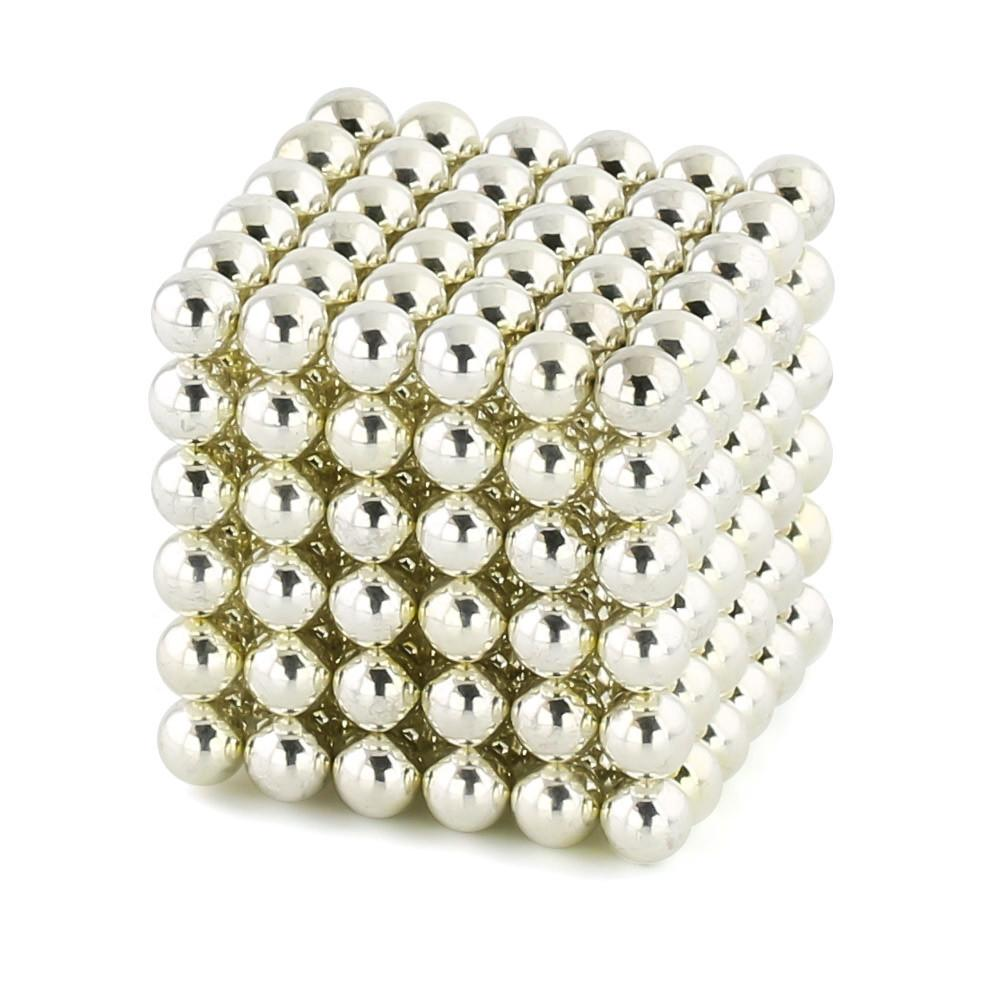silver neoballs sculpture magnet spheres cube