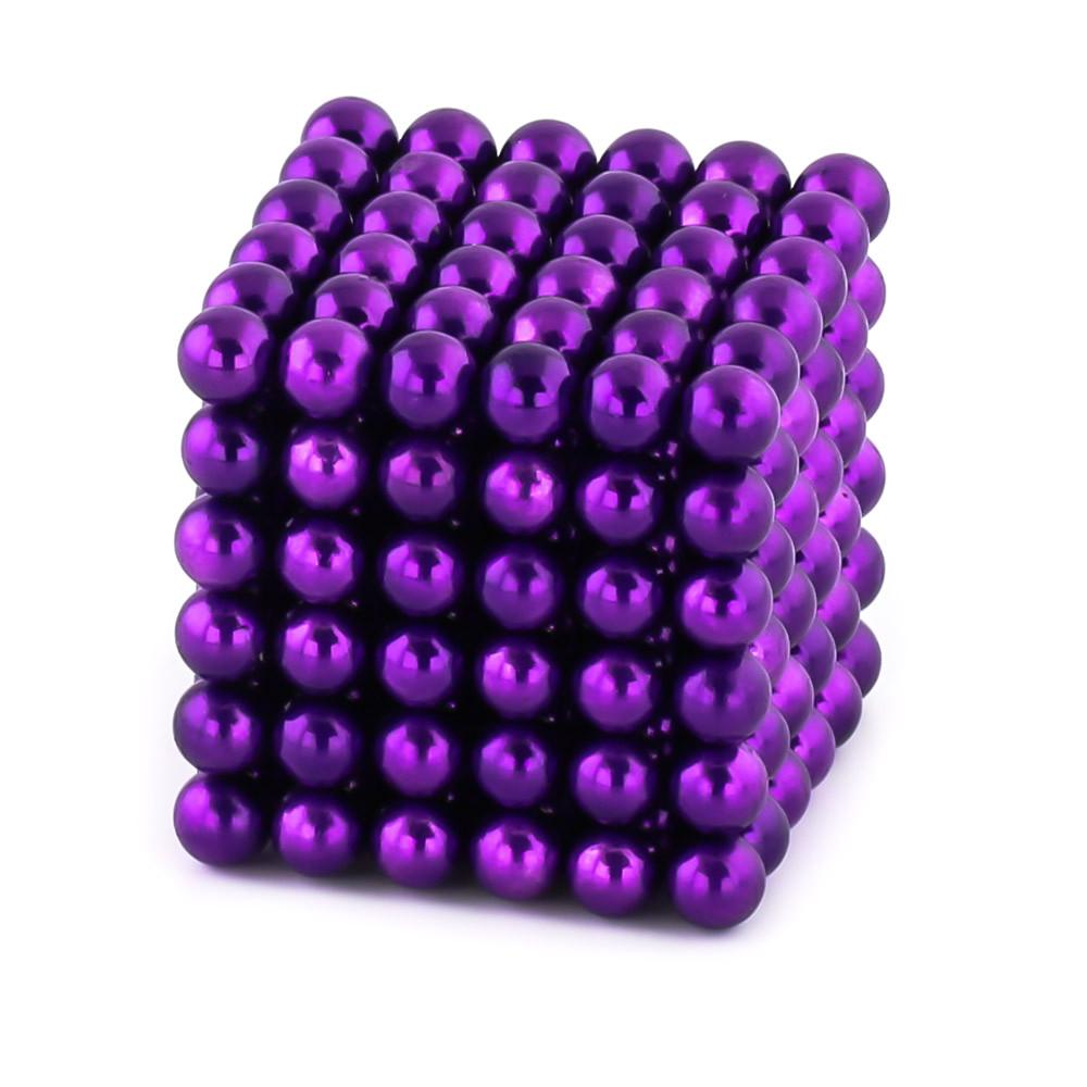 purple neoballs sculpture magnet spheres cube