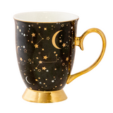 It's Written in the Stars Mug - Ebony & Gold
