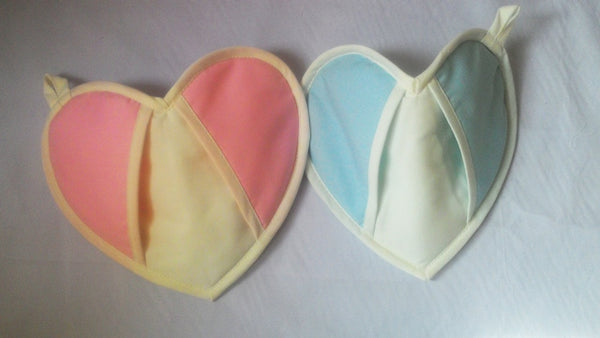 Paired Oven Mitts, Loving Hands Lovely Hearts, Valentine gift