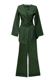 Dark Green Suit created by Azerbaijan designer full view