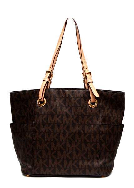 back view of Luxury MICHAEL KORS Jet Set Tote Bag