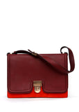 Red and Bordeaux Box Bag