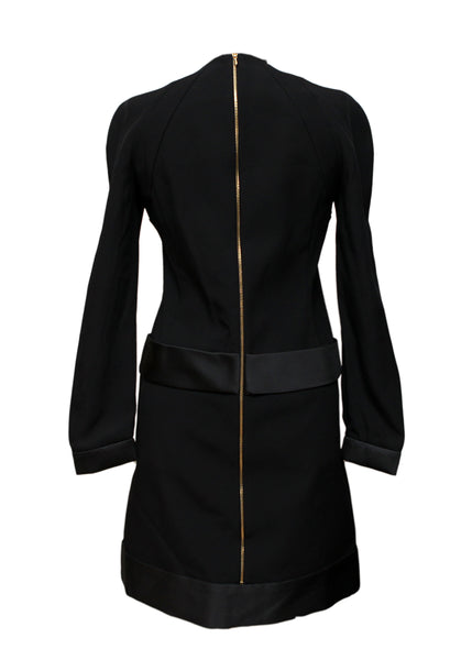 back view of Luxury VICTORIA BECKHAM Black and Bordeaux Dress