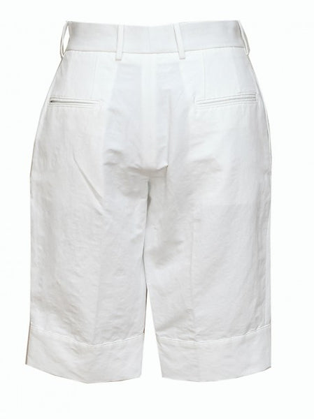 Back view of Luxury Marni White Cotton Shorts
