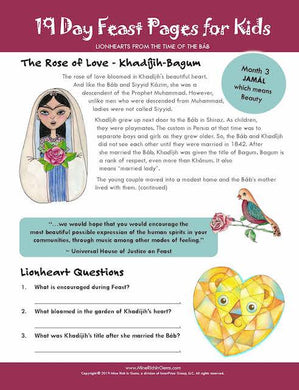 FREE PAGES | LIONHEARTS Month 03 | Khadíjih-Bagum, The Rose of Love