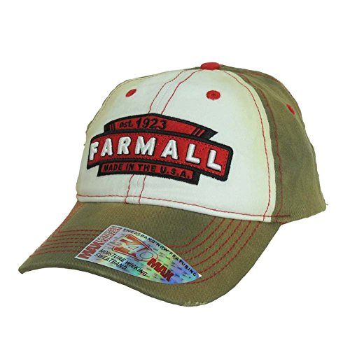 Farmall Youth Tea-Stained Hat, Brown and White - tractorup2