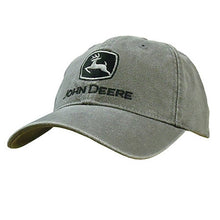 John Deere Canvas Low Profile Embroidered Hat Gree - tractorup2