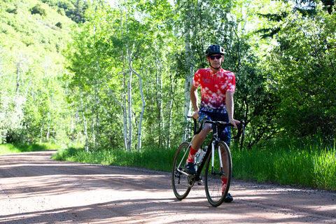 Dean Hill in the Aloha Palms Cycling Kit