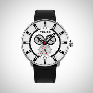Police 15040XCY/01 Mens White Dial Multi-Function Watch