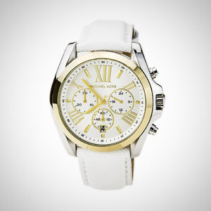 Michael Kors MK2282 Ladies White Leather Chronograph Watch