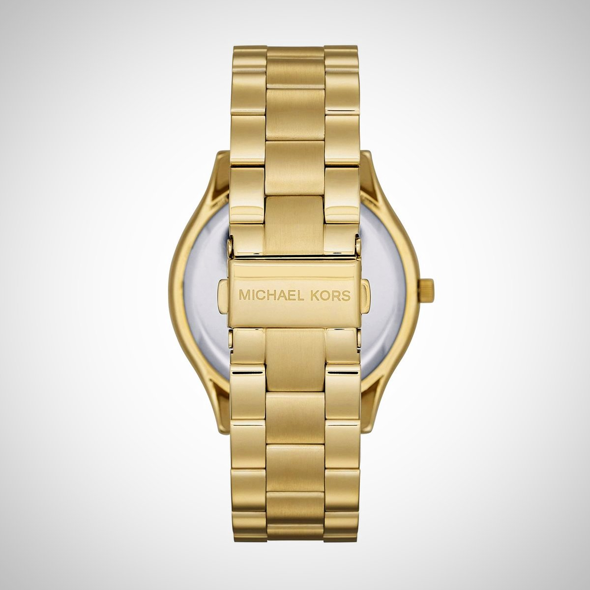 Michael Kors MK3590 Slim Runway Ladies Gold Tone Crystal Watch