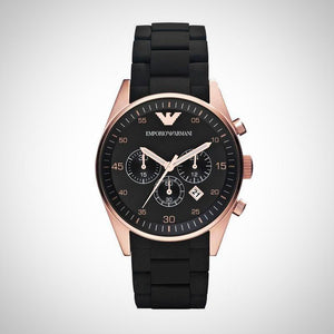 Emporio Armani AR5905 Mens Chronograph Black & Gold Watch