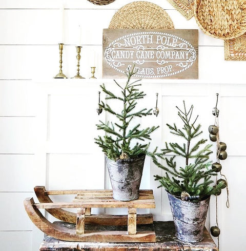 Candy Cane Company Barn Wood Sign