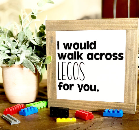 Legos Wooden Sign