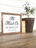 The Flush Co. Wooden Sign