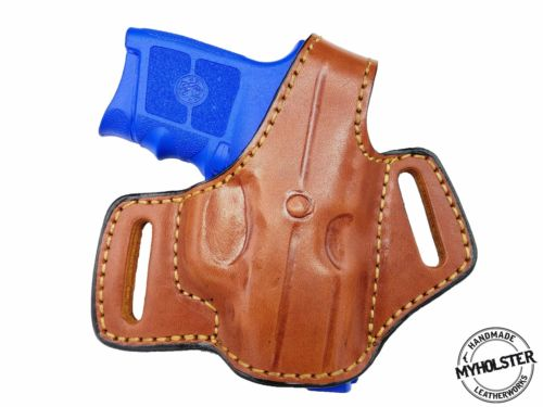 Kahr Arms P380 (NO LASER) Right Hand OWB Thumb Break Leather Belt Holster