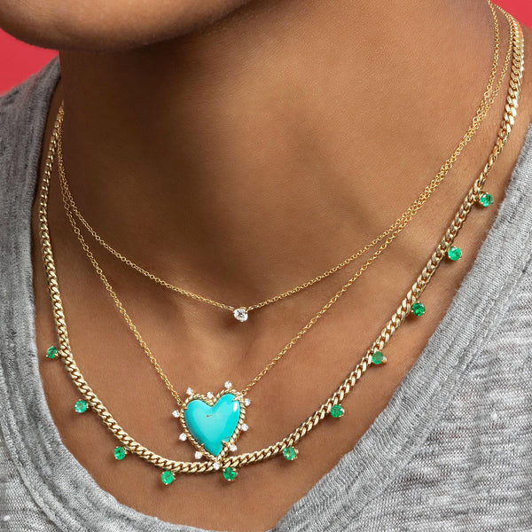 EMERALD LINKED DARLING NECKLACE