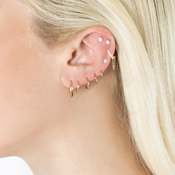 LARGE SEAMLESS HOOP EARRING