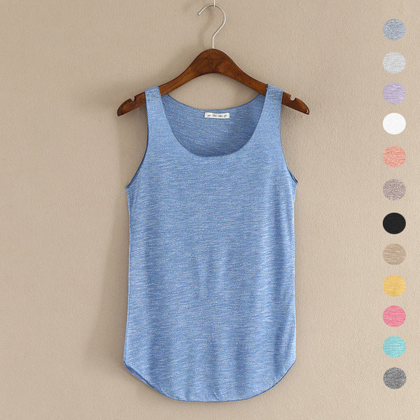 2016 summer Fitness Tank Top New T Shirt Plus Size Loose Model Women T-shirt Cotton O-neck Slim Tops Fashion Woman Clothes - EnsoStore